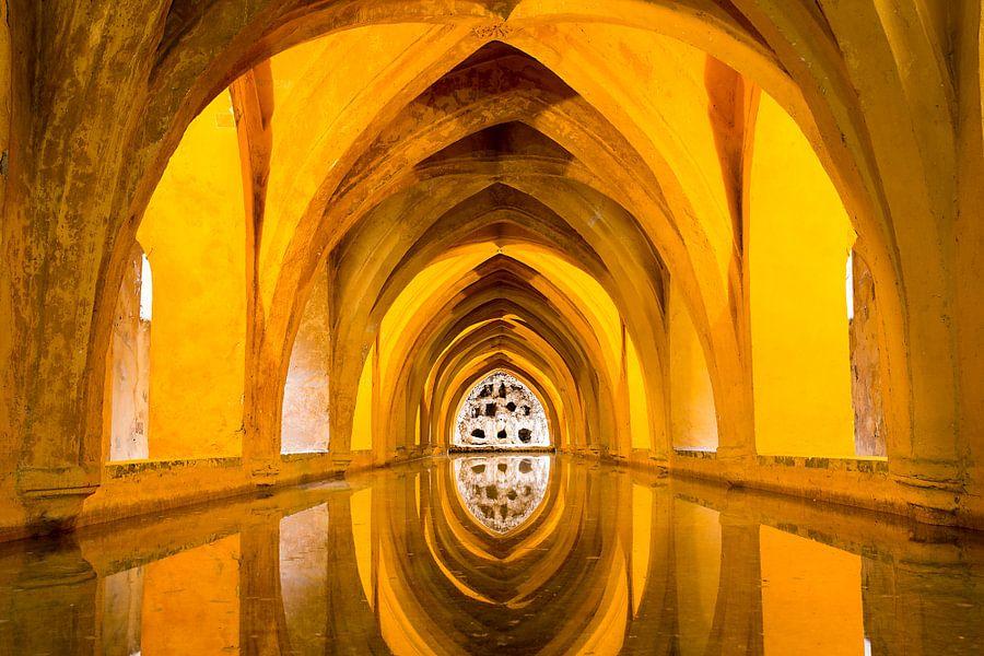 Badhuis van het koninklijk paleis in Sevilla van Antwan Janssen