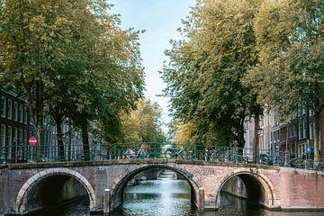 Grachtengürtel von Amsterdam im Herbst von Manon Galama