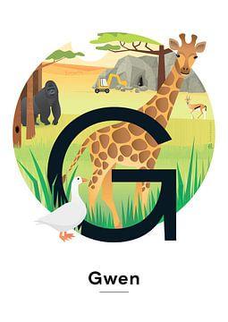 Affiche nominative Gwen sur Hannahland .