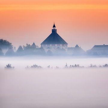 Sint Cathrien in het ochtendgloren van