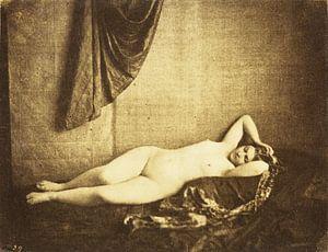Vintage Pinup Aktfotografie von 1854