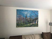 Klantfoto: Boomgaard in het voorjaar, Alfred Sisley, op print op doek