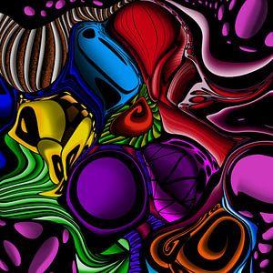 Abstrakte Kunst - Buntes und abstraktes Muster