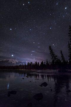 Sternenhimmel über den Rocky Mountains von Jonathan Vandevoorde
