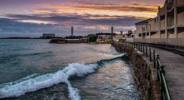 Sunset at Jersey Beach3 van Henry van Schijndel