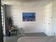 Klantfoto: Besneeuwde binnenstad van Utrecht van Donker Utrecht, als print op doek
