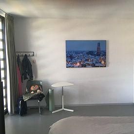 Kundenfoto: Schneebedeckte Stadt von Utrecht von Donker Utrecht, als akustikbild