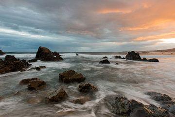 zonsopgang aan de Spaanse kust, Asturië von Jeannette Kliebisch