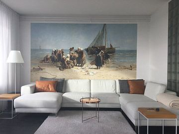 Kundenfoto: Fischerfrauen am Strand, Bernardus Johannes Blommers