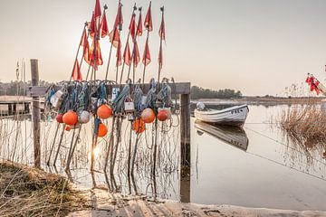 Winterstimmung im Hafen Darßer Ort bei Prerow an der Ostsee von Christian Müringer