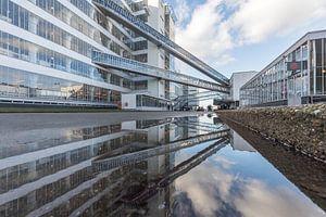 Van Nelle Fabriek in Rotterdam gespiegeld