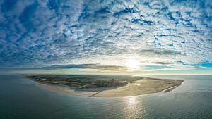 Vuurtoren Eierland Texel zonsondergang van