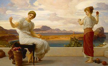 Het opwinden van de streng, Frederic Leighton.... van Meesterlijcke Meesters