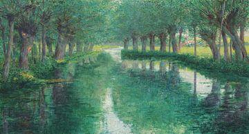 John Leslie Breck~Der Fluss Epte, Giverny