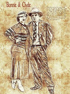 Bonnie & Clyde von Printed Artings