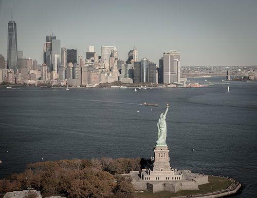 New York skyline, Manhattan van