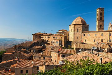 Blik op Volterra, Toscane, Italië van Henk Meijer Photography