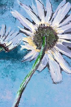 Good Morning Flower Hellblau Nahaufnahme von Susanne A. Pasquay