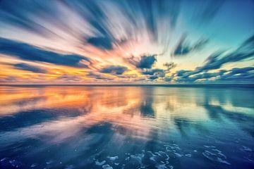 Sonnenuntergang auf Ameland von Sterkenburg Media
