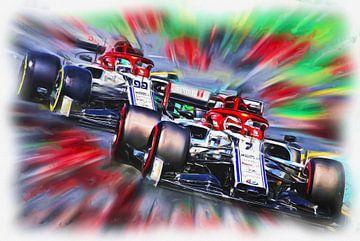 Teammates 2019 -  Räikkönen and Giovinazzi von Jean-Louis Glineur alias DeVerviers