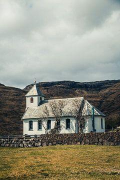 Kerk op de Faeröer eilanden van Expeditie Aardbol