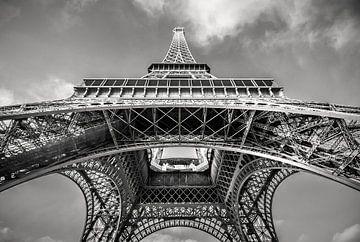 Eiffeltoren in zwart-wit
