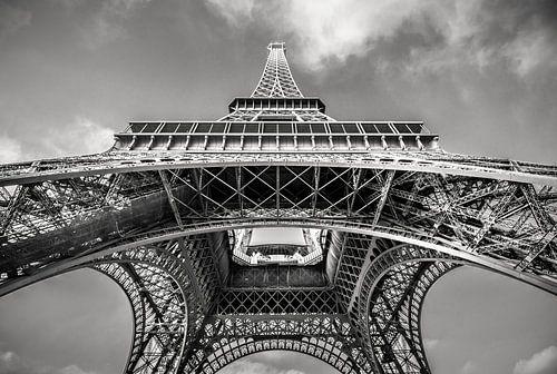 Eiffeltoren in zwart-wit van