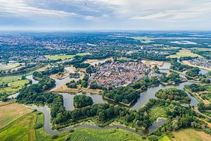 Luchtfotografie en bovenaanzicht van Naarden Vesting