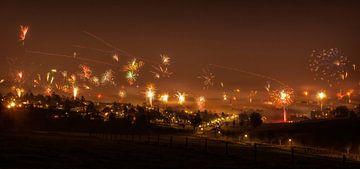 Vuurwerk 2014/2015 in Simpelveld van John Kreukniet