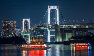 De regenboogbrug in Tokyo (Japan). van Claudio Duarte