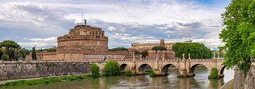 Rome - Engelenbrug - Castel Sant'Angelo van Teun Ruijters