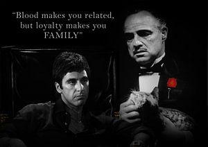 Tony Montana und Don Vito Corleone mit einem schönen Zitat. Auch mit eigenem Angebot erhältlich!