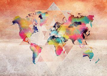 Wereldkaart 35 #kaart #wereldkaart van JBJart Justyna Jaszke