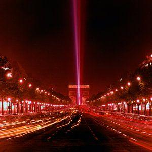 Parijs Arc de Triomph 1965 van
