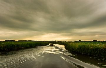 Abendsonne über den Groninger Seen von Bo Scheeringa