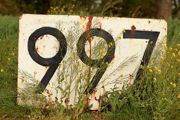 Bord 997 langs de maas vanaf de van Brienenoordbrug naar de stad van Capture the Moment 010