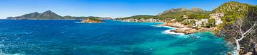 Panorama, Kust van Sant Elm, Mallorca eiland Middellandse Zee Spanje van Alex Winter