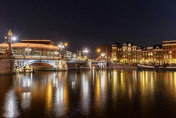 Die Blauwbrug bei Nacht von Gea Gaetani d'Aragona