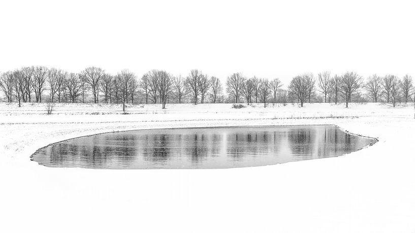 Winters meer van Mark Bolijn