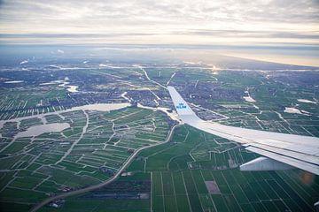 Luchtfoto uit een KLM vliegtuig van Charles Poorter