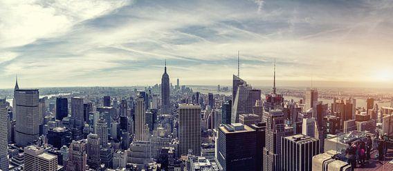New York City Skyline van Rob van der Voort