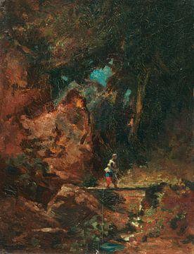 Die Sennerin auf dem Waldsteg, CARL SPITZWEG, Um 1875 von Atelier Liesjes