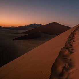 De weg naar de top van de woestijn van Joris Pannemans - Loris Photography