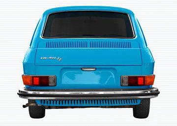 VW 411 rear view in light blue von aRi F. Huber