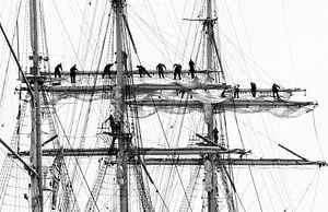 Zeilen op een traditioneel zeilschip