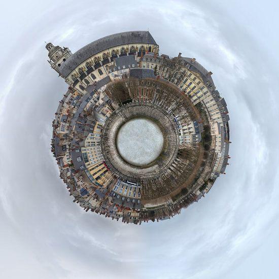 Blois, een stadje aan de Loire in een Sferische Panorama