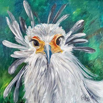 Secretaris vogel van René Pauwels