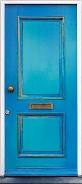 Blauwe deur van Peter de Kievith Fotografie