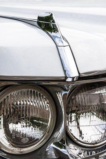 Koplamp detail van een oude Amerikaanse auto van Mark Scheper
