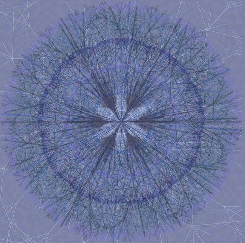 Grafische mandala, blauw